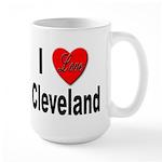 I Love Cleveland Large Mug