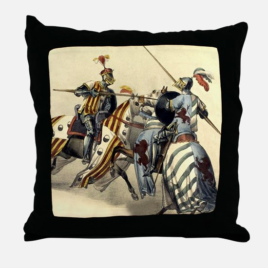 Knights of Europe Throw Pillow