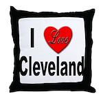 I Love Cleveland Throw Pillow