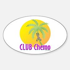 Club Chemo-Colon Oval Decal