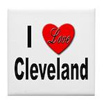 I Love Cleveland Tile Coaster