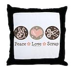 Peace Love Scrapbook Throw Pillow