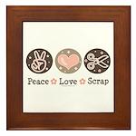 Peace Love Scrapbook Framed Tile