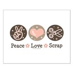 Peace Love Scrapbook Small Poster