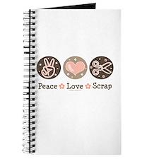 Peace Love Scrapbook Journal