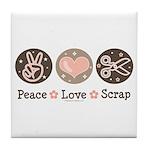 Peace Love Scrapbook Tile Coaster