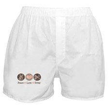 Peace Love Scrapbook Boxer Shorts