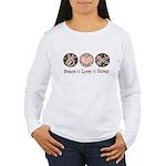 Peace Love Scrapbook Women's Long Sleeve T-Shirt