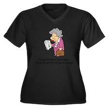 Retirement funny Women's Plus Size V-Neck Dark T-Shirt