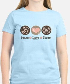 Peace Love Scrapbook T-Shirt