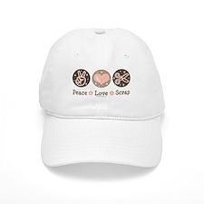 Peace Love Scrapbook Baseball Cap