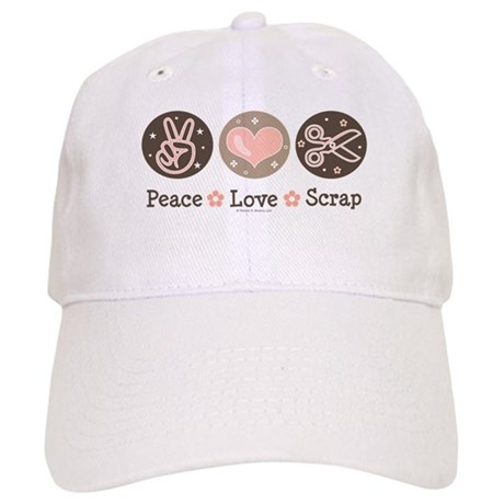 Peace Love Scrapbook Cap