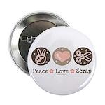 Peace Love Scrapbook Button