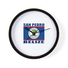 San Pedro, Belize Wall Clock