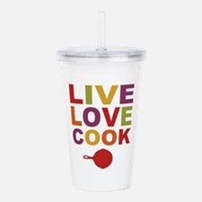 Live Love Cook Acrylic Double-wall Tumbler