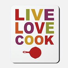 Live Love Cook Mousepad