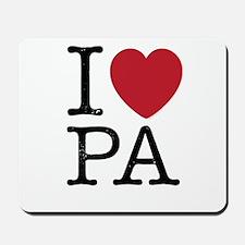 I Love PA Pennsylvania Mousepad