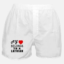 I Love Latvian Boxer Shorts