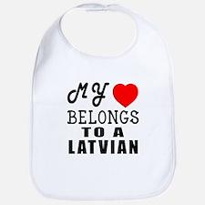 I Love Latvian Bib