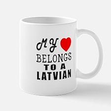 I Love Latvian Mug