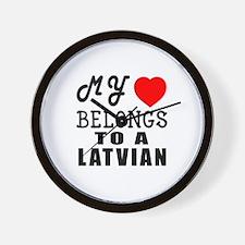 I Love Latvian Wall Clock