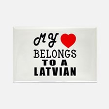 I Love Latvian Rectangle Magnet