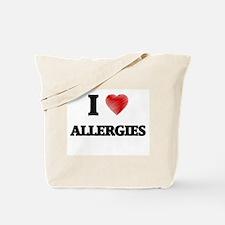 I Love ALLERGIES Tote Bag