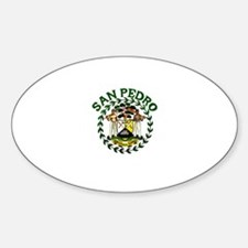 San Pedro, Belize Oval Decal