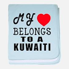 I Love Kuwaiti baby blanket