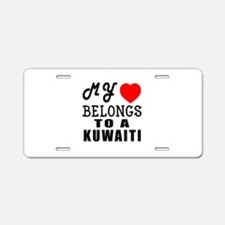 I Love Kuwaiti Aluminum License Plate