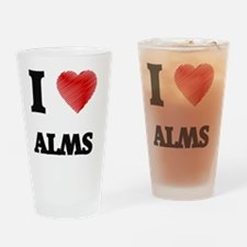 I Love ALMS Drinking Glass