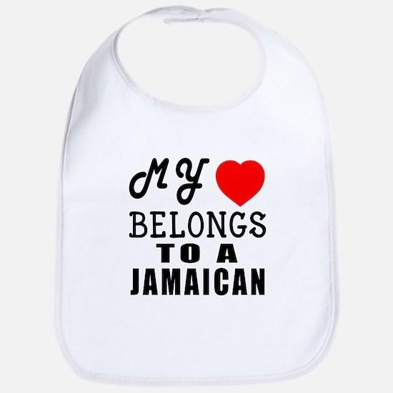 I Love Jamaican Bib