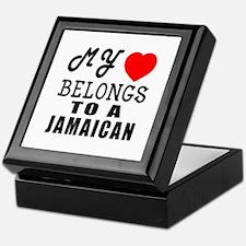 I Love Jamaican Keepsake Box