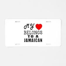 I Love Jamaican Aluminum License Plate
