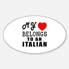 I Love Italian Sticker (Oval)