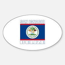 San Ignacio, Belize Oval Decal