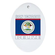 San Ignacio, Belize Oval Ornament