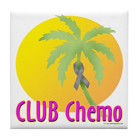 Club Chemo-Brain Tile Coaster