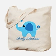 Blue Elephant Baby Tote Bag