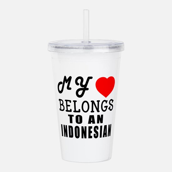 I Love Indonesian Acrylic Double-wall Tumbler
