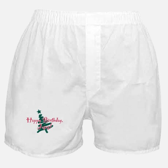 Birthday Jesus Boxer Shorts