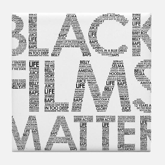 Black film Tile Coaster