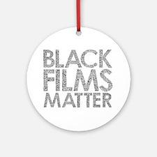 Black film Round Ornament