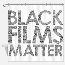 Black film Shower Curtain