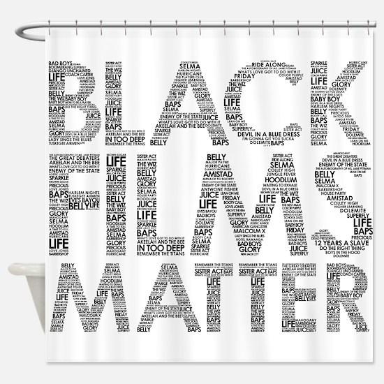 Black film Shower Curtain