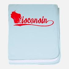 Wisconsin Script baby blanket
