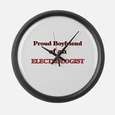 Proud Boyfriend of a Electrologis Large Wall Clock