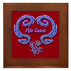 Mio Cuore Red Framed Art Tile