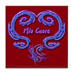 Mio Cuore Red Art Tile