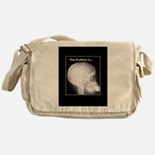 foot in mouth xray Messenger Bag